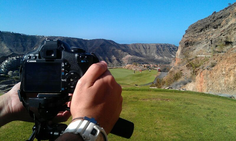 grabacion de video en campo de golf